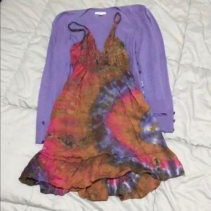 Dresses & Skirts - Tie dye dress size small